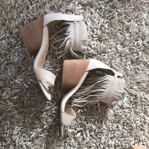 Matiko suede stacked heel sandal booties